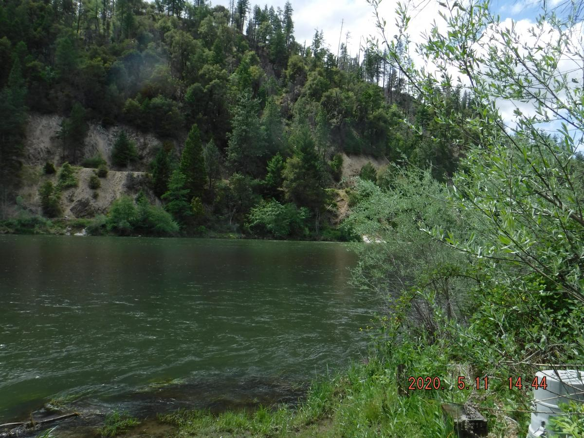Index site at Seiad Valley on the Klamath River on May 11