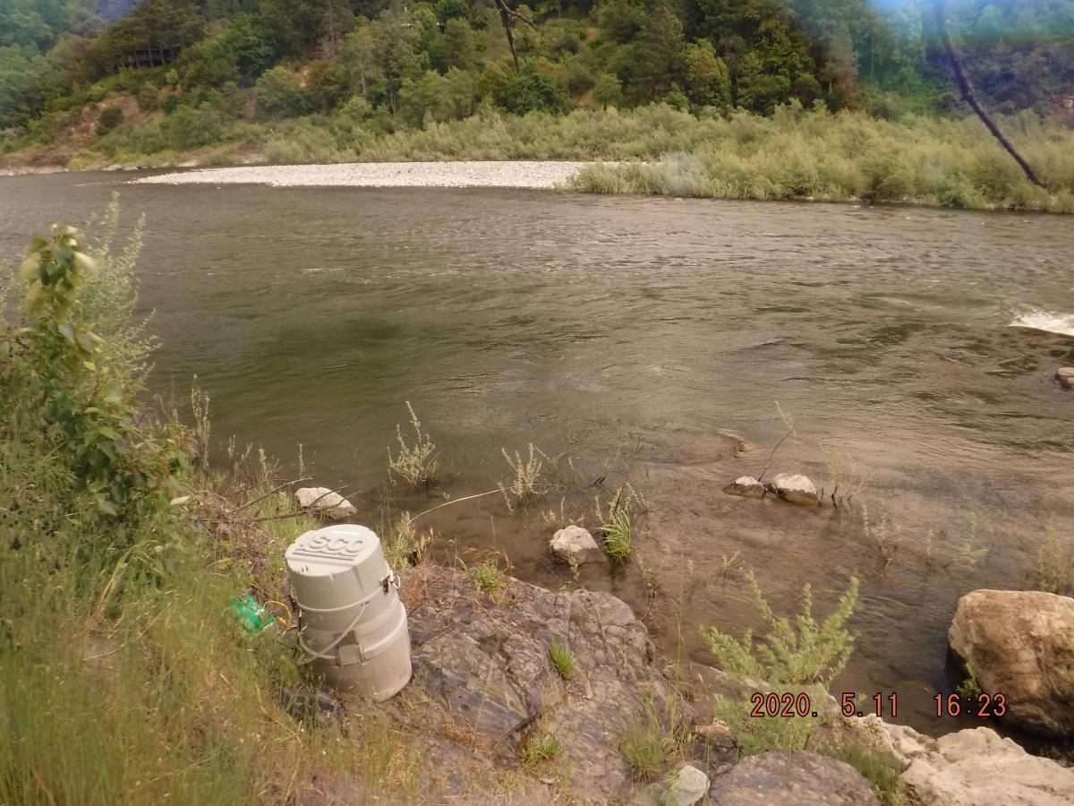 Index site at Orleans on the Klamath River on May 11